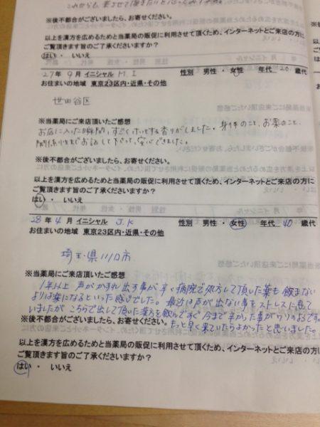 2016年4月23日 埼玉県川口市 40歳代 J.Kさん